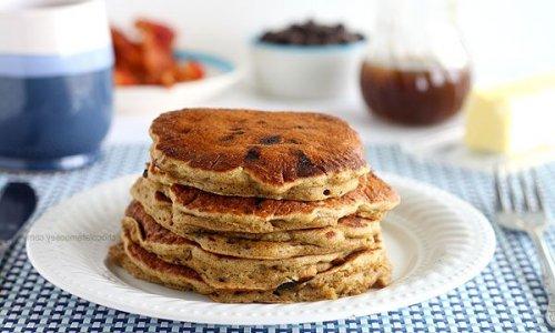 Tortitas de avena con trocitos de chocolate